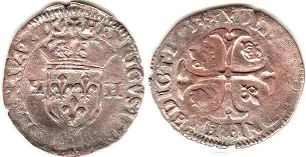 coin France douzain 1593