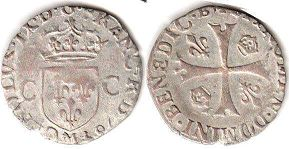 coin France douzain 1572