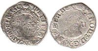 coin English old silver coin - Charles I half groat