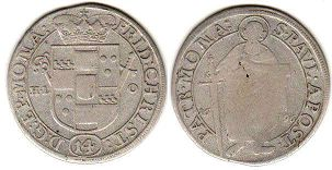 coin Munster 1/14 taler 1696