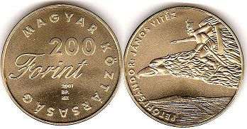 coin Hungary 200 forint 2001