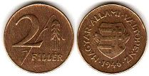 coin Hungary 2 filler 1946