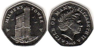 coin Isle of Man 50 pence 2009