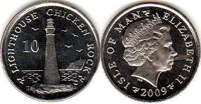 coin Isle of Man 10 pence 2009