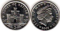 coin Isle of Man 5 pence 2009