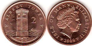 coin Isle of Man 2 pence 2009