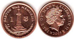 coin Isle of Man 1 penny 2009
