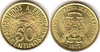 coin Saint Thomas and Prince 50 centimes 1977
