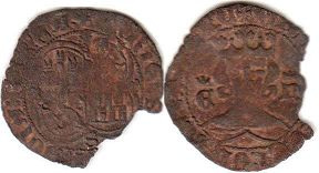 coin Castile and Leon 1/2 maravedi 1369-1379