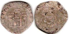 coin Castile and Leon 1/2 Quartillo 1454-1474