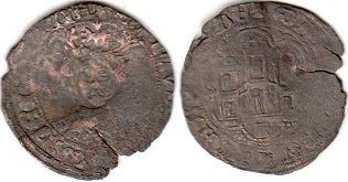 coin Castile and Leon Quartillo 1454-1474
