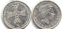 coin Isle of Man 5 pence 2002