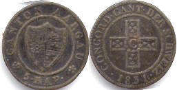 coin Swiss old 5 rappen 1831