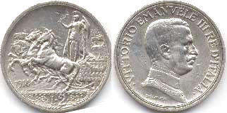 coin Italy 2 lire 1914