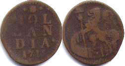 coin Holland 1 duit 1715