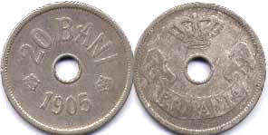 coin Romania 20 bani 1905