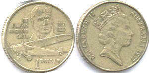 australian commemmorative coin 1 dollar 1997