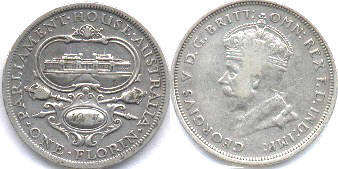 australian commemmorative coin 1 florin 1927