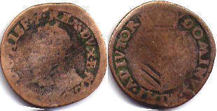 coin Spanish Netherlands oord 1590