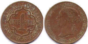 coin British East Africa 1 paisa 1899