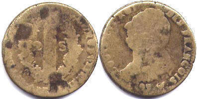 coin France double sol constitutionnel 1791