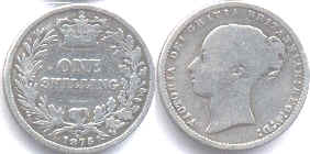 coin UK old coin shilling 1875