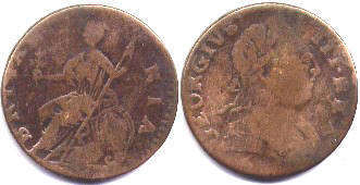 coin UK old coin half penny 177 (1-5)
