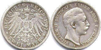 coin German Empire 2 mark 1907