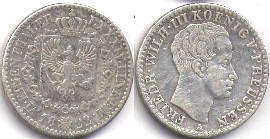 coin Prussia 1/6 taler 1822