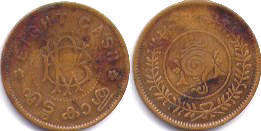 coin Travancore 8 cash ND (1938-1949)