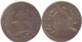coin Mexico 1/4 real 1862
