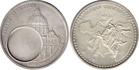 coin Token Vatican EUROPIEN CURRENCIES
